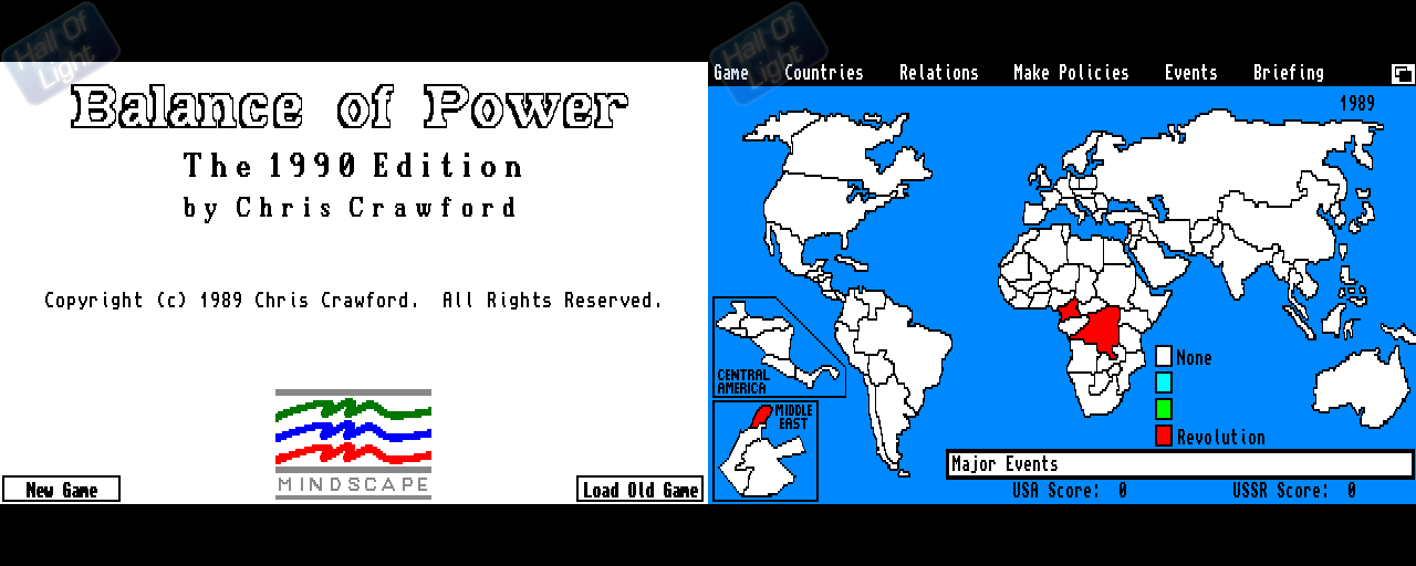 Balance Of Power: The 1990 Edition - Double Barrel Screenshot