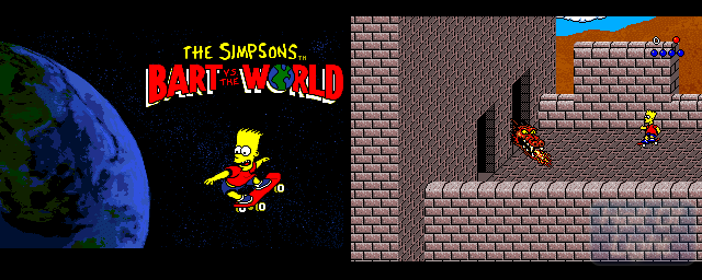 Simpsons, The: Bart vs. The World - Double Barrel Screenshot