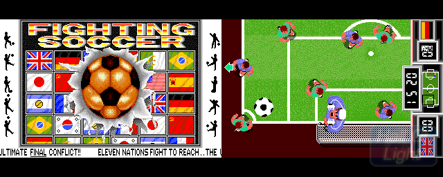 Fighting Soccer - Double Barrel Screenshot