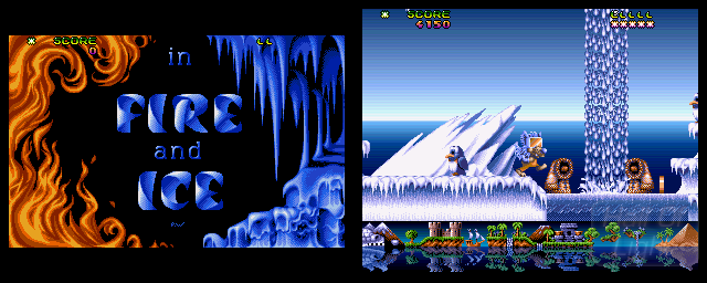 Fire & Ice: The Daring Adventures Of Cool Coyote - Double Barrel Screenshot