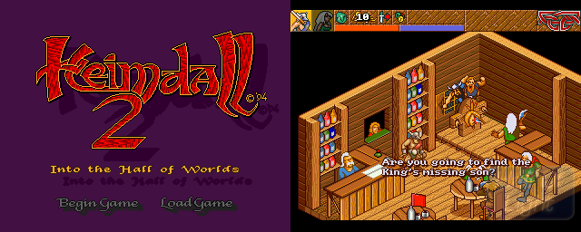 Heimdall 2: Into The Hall Of Worlds - Double Barrel Screenshot