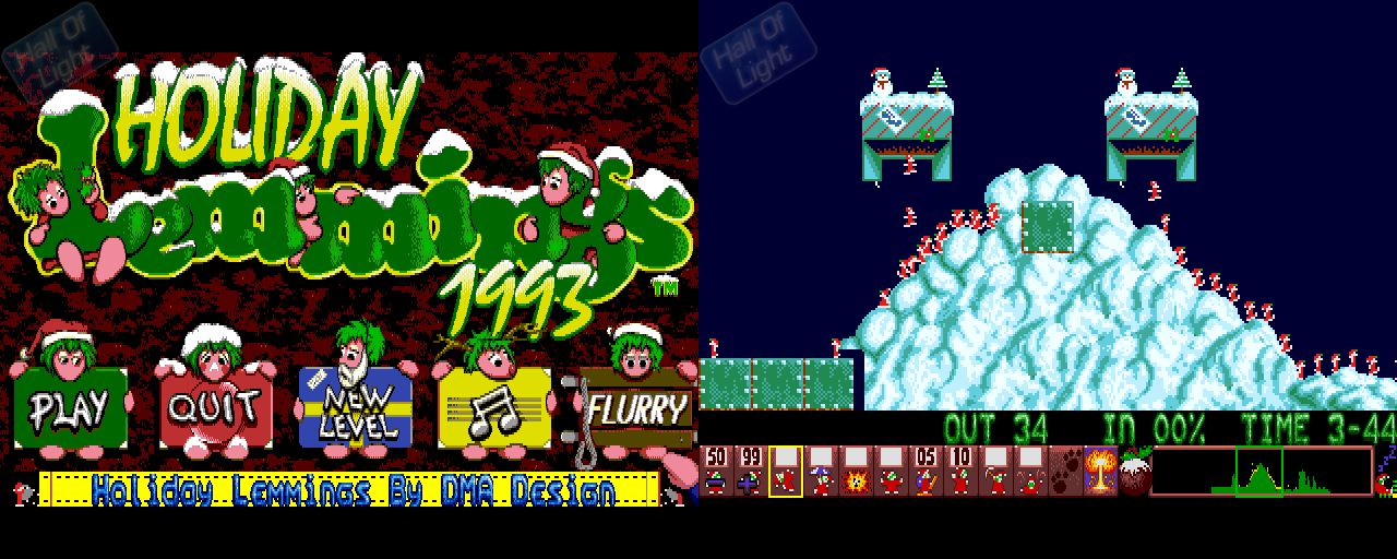 Holiday Lemmings 1993 - Double Barrel Screenshot