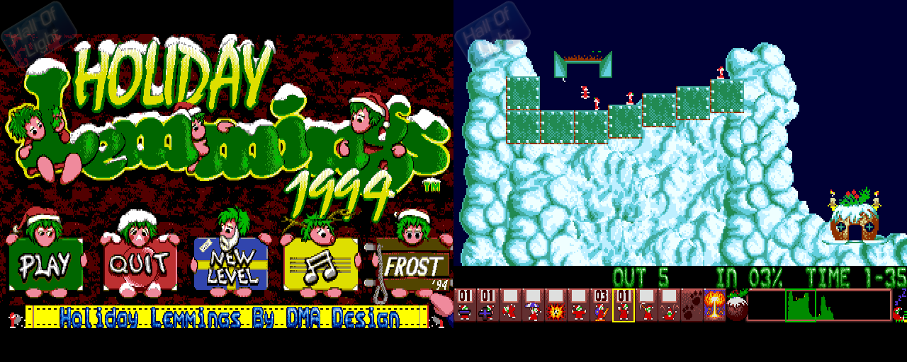 Holiday Lemmings 1994 - Double Barrel Screenshot