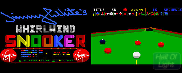 Jimmy White's 'Whirlwind' Snooker - Double Barrel Screenshot