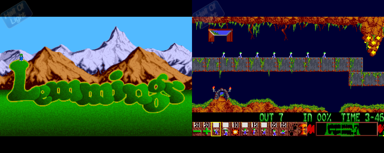 Lemmings - Double Barrel Screenshot