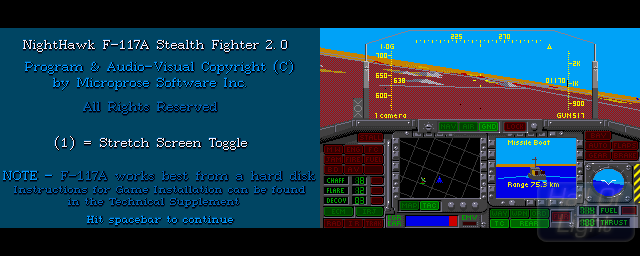 Nighthawk F-117A Stealth Fighter 2.0 - Double Barrel Screenshot