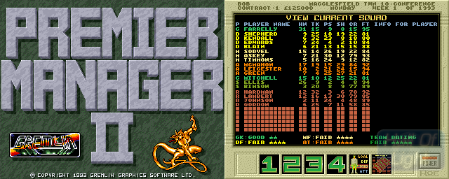 Premier Manager II - Double Barrel Screenshot