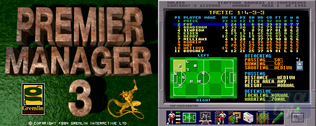 Premier Manager 3 - Double Barrel Screenshot