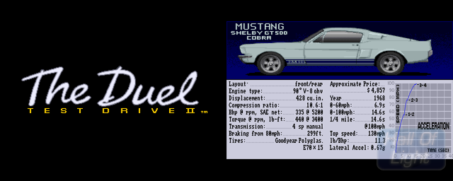 Test Drive II Car Disk: The Muscle Cars - Double Barrel Screenshot