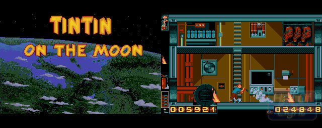 Tintin On The Moon - Double Barrel Screenshot