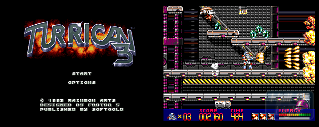 Turrican 3 - Double Barrel Screenshot