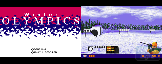 Winter Olympics - Double Barrel Screenshot