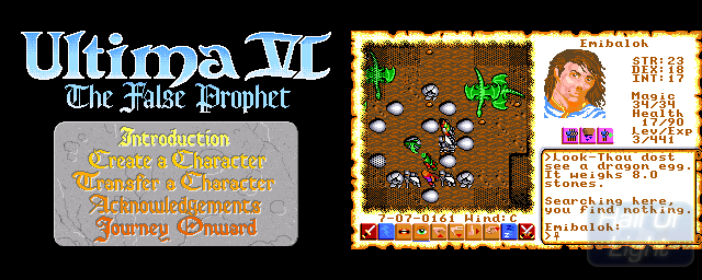 Ultima VI: The False Prophet - Double Barrel Screenshot