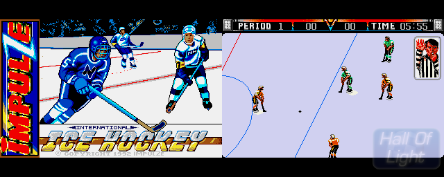 International Ice Hockey - Double Barrel Screenshot