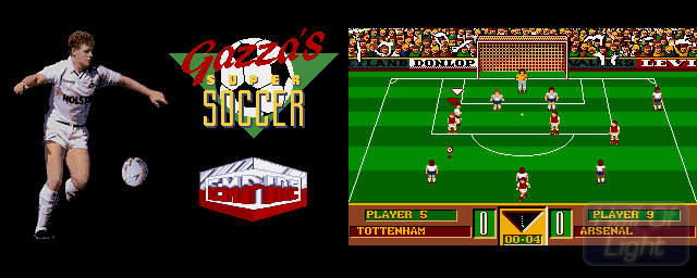 Gazza's Super Soccer - Double Barrel Screenshot