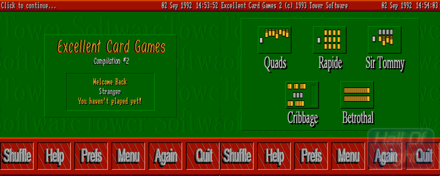 Excellent Card Games II - Double Barrel Screenshot