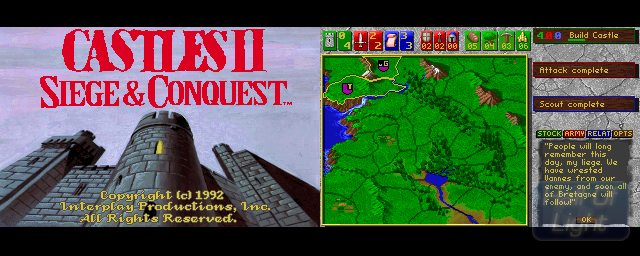 Castles II: Siege And Conquest - Double Barrel Screenshot