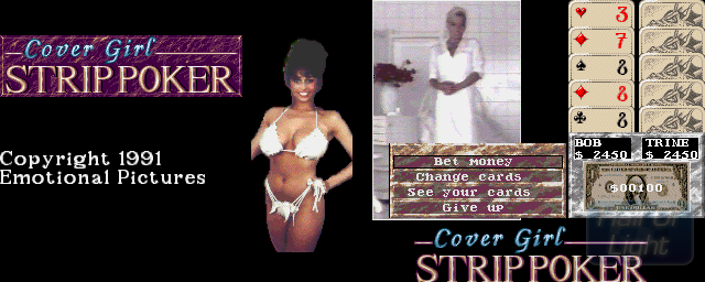 Cover Girl Strip Poker - Double Barrel Screenshot