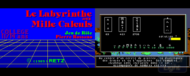 Labyrinthe Aux Mille Calculs, Le - Double Barrel Screenshot