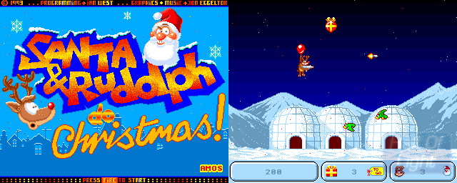 Santa & Rudolph Do Christmas! - Double Barrel Screenshot