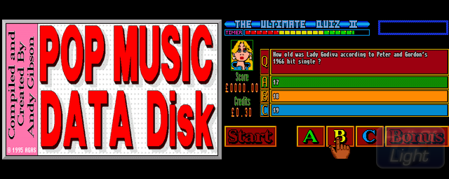 Ultimate Quiz II, The: Pop Music Data Disk - Double Barrel Screenshot